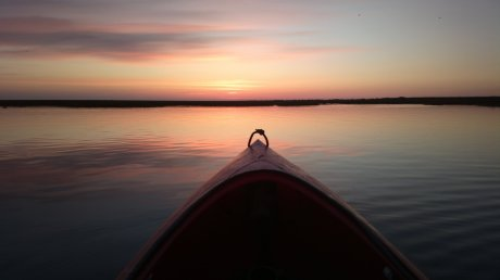 Kayaking Blakeney Harbour at dawn