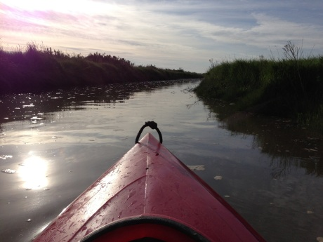 Piloting the creek from Blakeney to Morston