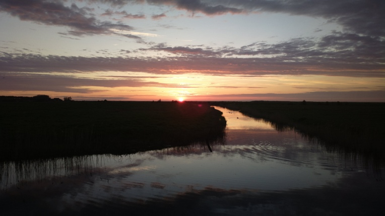 Sunset over the Burnham marshes