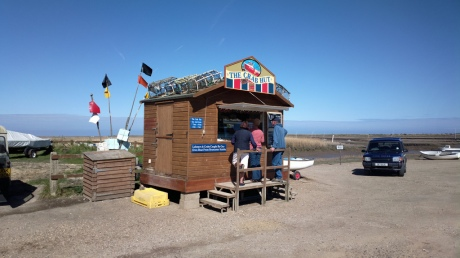 The crab shack at Brancaster harbour