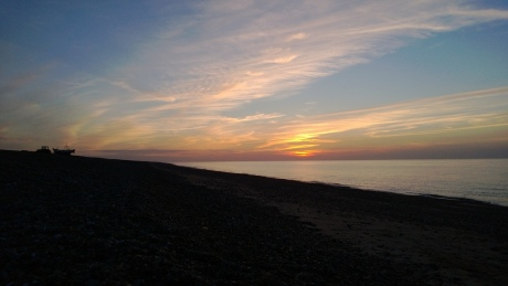 Sundown at Cley Beach