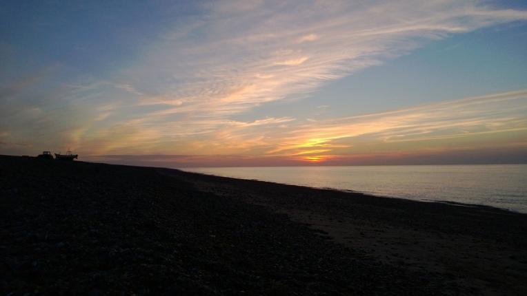 Sundown at Cley Beach