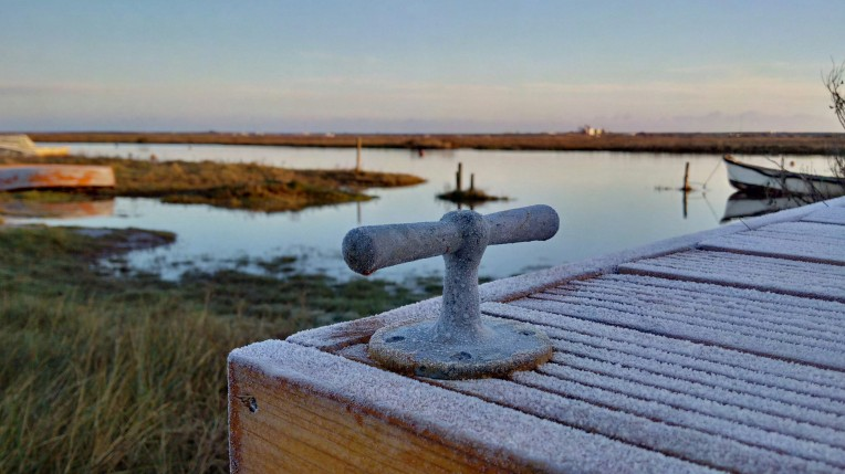 Frost & high tide on a winter's morning in Blakeney