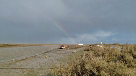 Mud & rainbows in Blakeney Harbour on the North Norfolk coast