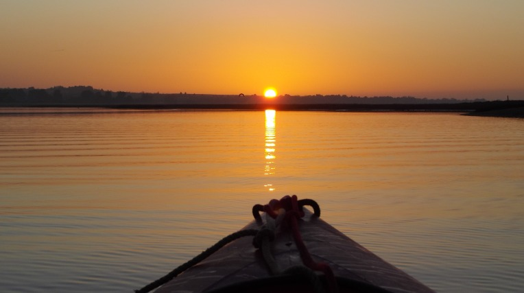 Sunset kayaking in Brancaster Harbour